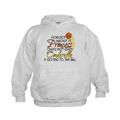 Not Even Cinderella - Basketball Kids Hoodie
