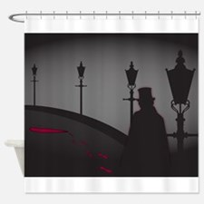 Jack The Ripper On The Street Shower Curtain