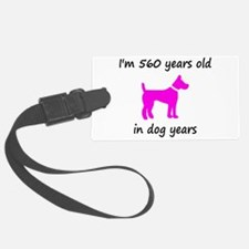 80 Dog Years Hot Pink Dog 1C Luggage Tag
