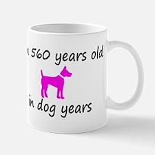 80 Dog Years Hot Pink Dog 2 Mugs