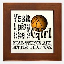Play Like a Girl - Basketball Framed Tile