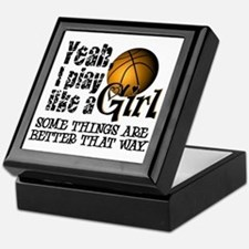 Play Like a Girl - Basketball Keepsake Box