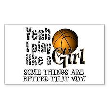 Play Like a Girl - Basketball Decal