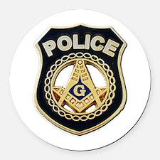 Masonic Police Round Car Magnet