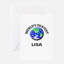 World's Okayest Lisa Greeting Cards