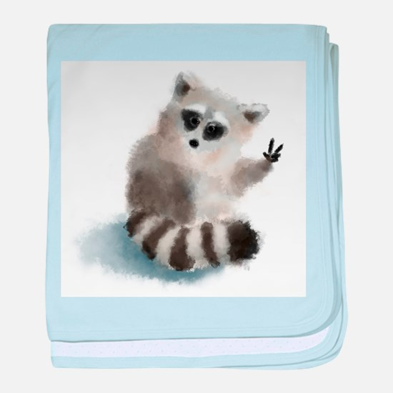 Raccoon says hello! baby blanket