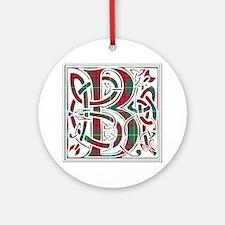Monogram - Bruce hunting Round Ornament