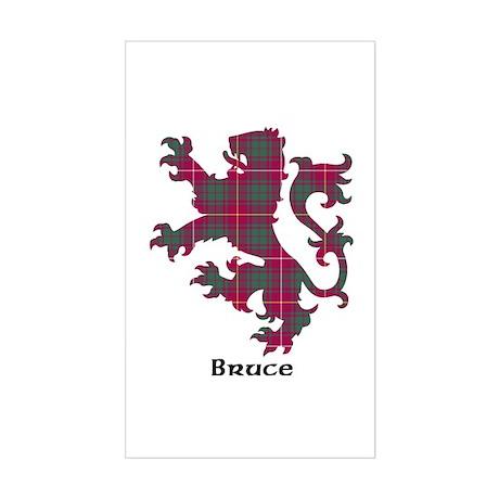 Lion - Bruce Sticker (Rectangle)