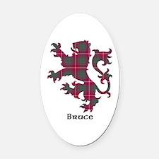Lion - Bruce Oval Car Magnet
