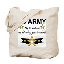US Army Grandsons Defending Tote Bag