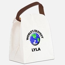 World's Okayest Lyla Canvas Lunch Bag