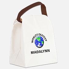 World's Okayest Madalynn Canvas Lunch Bag
