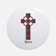 Cross - Bruce hunting Round Ornament