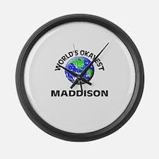 World's Okayest Maddison Large Wall Clock