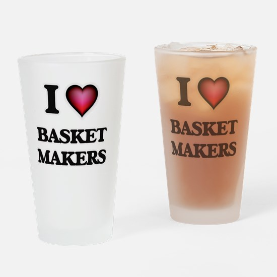 I love Basket Makers Drinking Glass