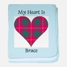 Heart - Bruce baby blanket