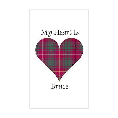 Heart - Bruce Sticker (Rectangle)