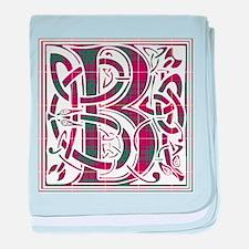 Monogram - Bruce baby blanket