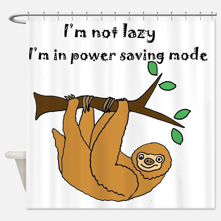 Sloths bathroom accessories decor cafepress for Sloth kong shower curtain