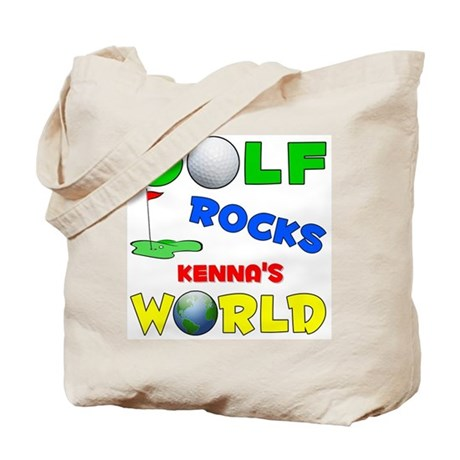 Golf Rocks Kenna's World - Tote Bag
