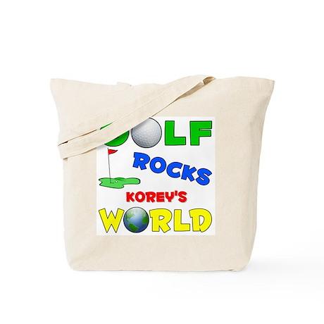 Golf Rocks Korey's World - Tote Bag
