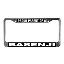 Proud Parent of a Basenji License Plate Frame