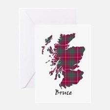 Map - Bruce Greeting Card