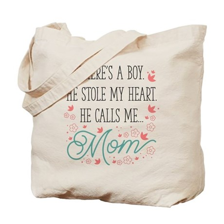 He Calls Me Mom Tote Bag
