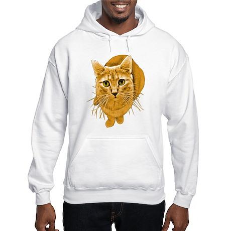 Orange Cat Hooded Sweatshirt