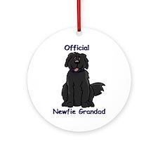 Newfie Grandad Ornament (Round)