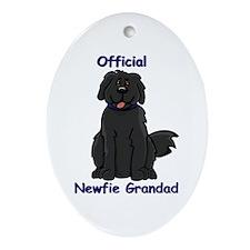 Newfie Grandad Oval Ornament