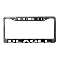Proud Parent of a Beagle License Plate Frame