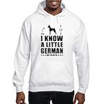 LITTLE GERMAN - Min Pin Hooded Sweatshirt