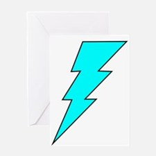 Lightning Bolt 13 Greeting Card