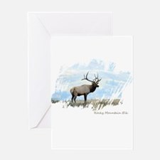 Rocky Mountain Elk Greeting Cards