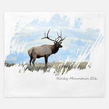 Rocky Mountain Elk King Duvet