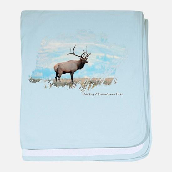 Rocky Mountain Elk baby blanket