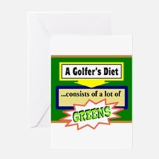 Golfer's Diet Greeting Cards