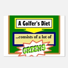 Golfer's Diet Postcards (Package of 8)