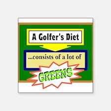 Golfer's Diet Sticker