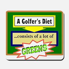 Golfer's Diet Mousepad
