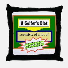 Golfer's Diet Throw Pillow