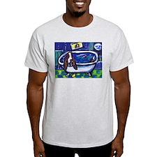 BASSET HOUND takes Bath Desig Ash Grey T-Shirt