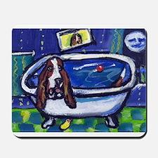 BASSET HOUND takes Bath Desig Mousepad