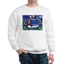 BASSET HOUND takes Bath Desig Sweatshirt