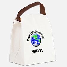 World's Okayest Maya Canvas Lunch Bag