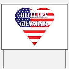 US Military Grandma Yard Sign