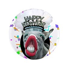 "HAPPY NEW YEAR 3.5"" Button"