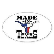 Made In Texas Oval Decal