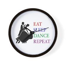 Eat Sleep Dance Wall Clock